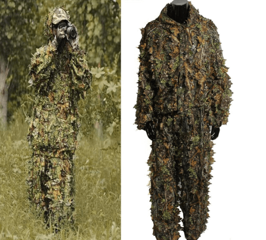 OuterDo Camo Ghillie Suit with 3D Leaves