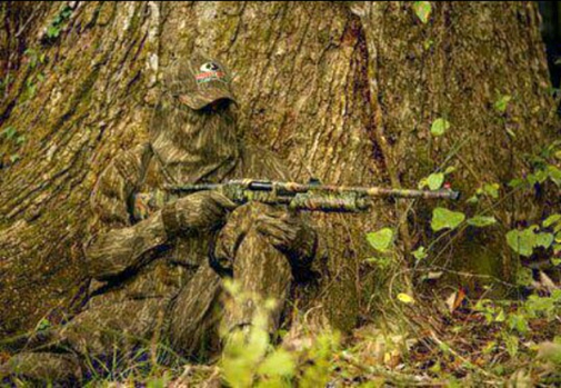 Leafy Camouflage Hunting Cloth