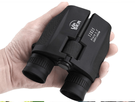 UPSKR 12x25 Compact Binoculars with Low Light Night Vision